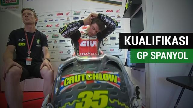 Berita video hasil Kualifikasi MotoGP Spanyol di mana Cal Crutchlow menempati pole position, sedangkan Valentino Rossi start posisi ke-10.
