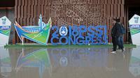 Peserta Kongres Tahunan PSSI 2018 mulai berdatangan di ICE BSD, Tangerang (13/1/2018). Salah satu agenda Kongres PSSI 2018 adalah revisi Statuta. (Bola.com/Nicklas Hanoatubun)