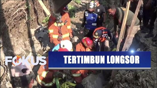Pekerja proyek gorong-gorong di Surabaya tertimbun longsor beton dengan kedalaman mencapai 2 meter.
