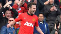 Mata mencetak gol pertamanya untuk MU (ANDREW YATES / AFP)