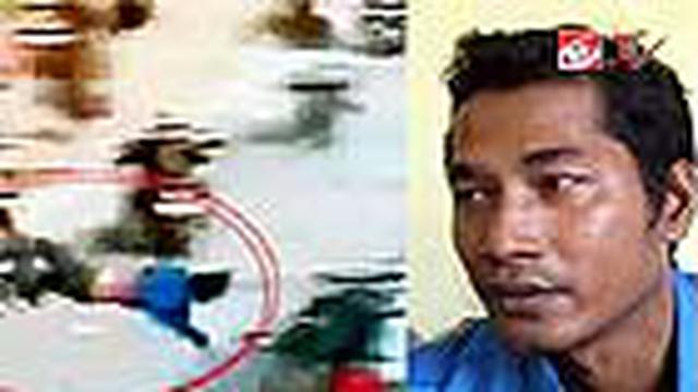 Seorang mahasiswa dari fakultas syariah IAIN Sultan Thaha Syaifudin Jambi mengaku sebagai orang yang ditabrak mobil polisi.