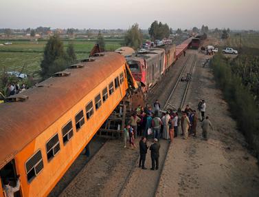 Dua Kereta Tabrakan di Mesir, 15 Orang Tewas