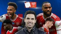Juara Community Shield: Arsenal. (Bola.com/Dody Iryawan)
