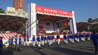 Atraksi dalam peringatan Hari Kemerdekaan Taiwan ke-108. (Liputan6.com/Teddy Tri Setio Berty)
