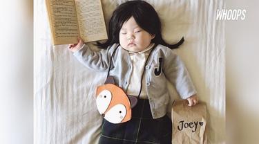 Ibu sang bayi berharap para orang tua selalu ingat dengan anak dan jangan terlalu serius dalam mendidik anak.
