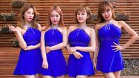 Girlband Korea Selatan (Korsel), Six Bomb menjalani sesi pemotretan di Seoul, 16 Maret 2017. Demi mendapatkan penampilan maksimal untuk mendukung karya baru mereka, Six Bomb menjalani operasi plastik senilai lebih dari Rp 1 miliar. (YELIM LEE/AFP)