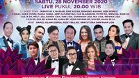 Semarak Indosiar Jakarta, digelar Sabtu (28/11/2020) pukul 20.00 WIB live dari Studio EMTEK City, Jakarta Barat
