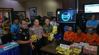 Tim Gabungan gagalkan penyelundupan shabu di perbatasan. (Nanda Perdana Putra/Liputan6.com)