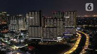Foto udara memperlihatkan suasana Rumah Sakit Darurat Wisma Atlet, Kemayoran, Jakarta, Kamis (10/9/2020). Pemerintah menyiapkan 2.700 tempat tidur di Rumah Sakit Darurat Wisma Atlet untuk merawat pasien COVID-19 dengan kondisi sedang dan ringan. (Liputan6.com/Faizal Fanani)