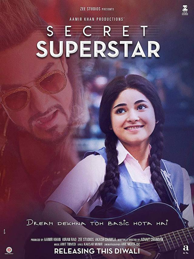 Poster film yang dibintangi Zaira Wasim, Secret Superstar (Via IMDb)