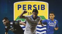 Persib Bandung - Farshad Noor, Esteban Vizcarra, Dedi Kusnandar (Bola.com/Adreanus Titus)