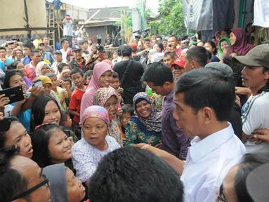 Capres dari PDIP, Jokowi memiliki cara tersendiri untuk merangkul kaum buruh (Liputan6.com/Herman Zakharia).