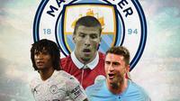 Manchester City - Nathan Ake, Ruben Dias, Aymeric Laporte (Bola.com/Adreanus Titus)