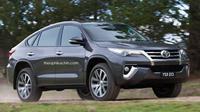 Fortuner bakal menjadi penantang  duo SUV-coupe asal Jerman, BMW X6 dan Mercedes Benz GLE Coupe.