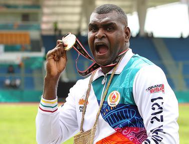 Foto: PON XX Papua Hampir Usai, Papua Raih Emas Pertama dari Cabor Atletik Nomor Lempar Cakram Putra Melalui Arnoldus Gawai Kaize