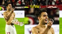Unik, Pemain Real Madrid Selebrasi Makan Donat yang Dilempar Penonton (twitter)