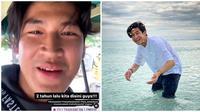 Momen Liburan Anrez Adelio di Lombok. (Sumber: Instagram.com/wilver_jodoh dan Instagram.com/anzadelio)