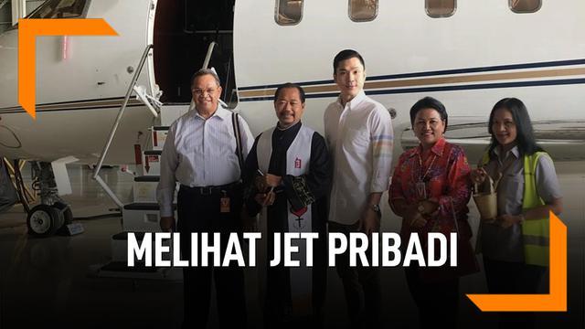 Melihat Jet Pribadi Suami Sandra Dewi
