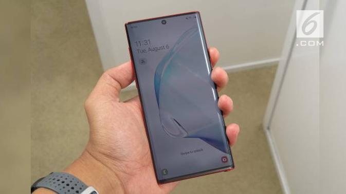 Samsung Galaxy Note 10 Plus. Liputan6.com/Istiarto Sigit Nugroho