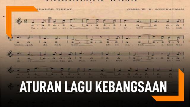 aturan lagu kebangsaan