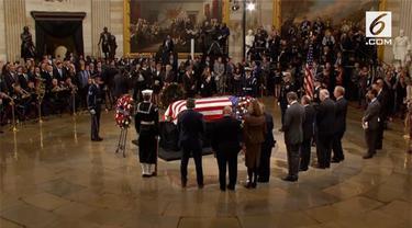 Jenazah George HW Bush akan disemayamkan di gedung Capitol, Washington selama tiga hari.
