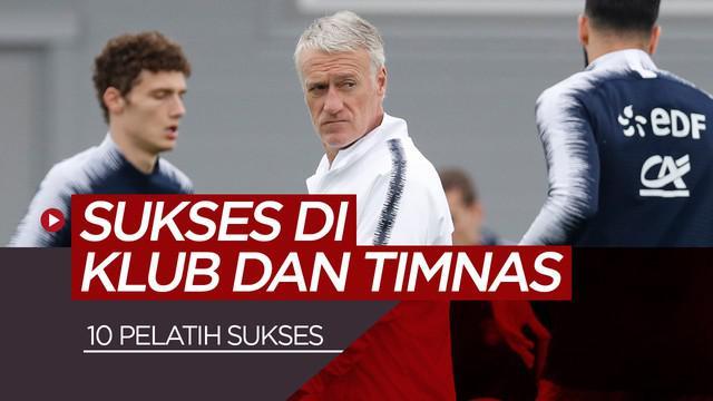 Berita video 10 pelatih yang sukses dan berprestasi dalam melatih klub maupun tim nasional.
