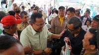 Cagub Sumsel nomor urut 1 Dodi Reza Alex Noerdin saat meresmikan Posko Dora Center Palembang (dok.Timses Dodi Reza-Giri Ramandha / Niecko Resti)