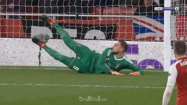 Berita video gol-gol saat Arsenal menang 3-1 atas AC Milan pada leg kedua 16 Besar Liga Europa 2017-2018. This video presented by BallBall.