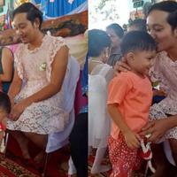 Inilah cerita haru di balik seorang pria yang mengenakan dress saat datang ke acara Hari Ibu yang diadakan oleh sekolah anaknya. (Facebook)