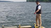 Calon Gubernur Jawa Timur Saifullah Yusuf atau Gus Ipul menghabiskan akhir pekan di Banyuwangi. (Liputan6.com/Dian Kurniawan)
