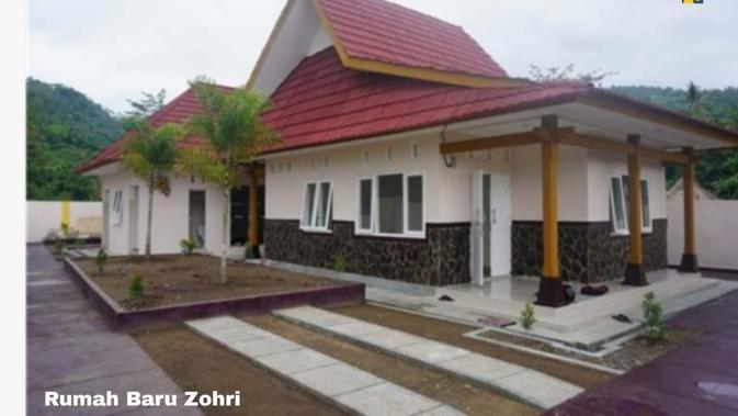 Rumah Zohri setelah direnovasi. Dok: Kementerian PUPR
