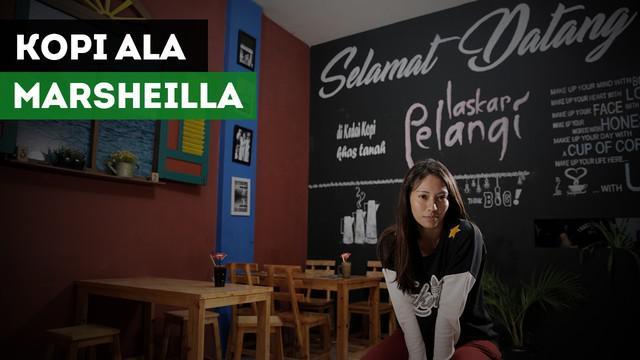 Atlet voli putri Indonesia Berllian Marsheilla bercerita tentang bisnis Kopi.