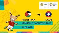 Jadwal Sepak Bola Asian Games 2018, Palestina vs Laos. (Bola.com/Dody Iryawan)