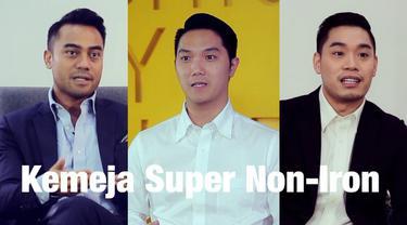 Kemeja Super Non-Iron, sebuah inovasi dari UNIQLO LifeWear dengan fitur teknologi bebas kusut.