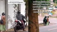 Pasangan kekasih marahan di jalan (Sumber: TikTok/myname_myme)