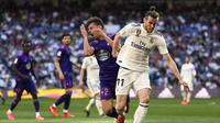 1. Gareth Bale - Kapten timnas Wales tersebut menjadi tumpuan Los Galacticos usai ditinggal Ronaldo. Namun performa Bale tidak sesuai dengan apa yang diharapkan. (AFP/Gabriel Bouys)