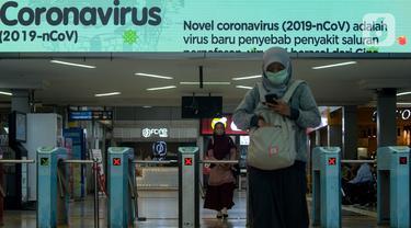 Sosialisasi Virus Corona di Stasiun Sudirman