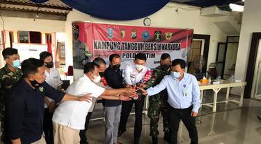 Peresmian Kampung Tangguh bebas Narkoba di Waru Sidoarjo (Dian Kurniawan/Liputan6.com)