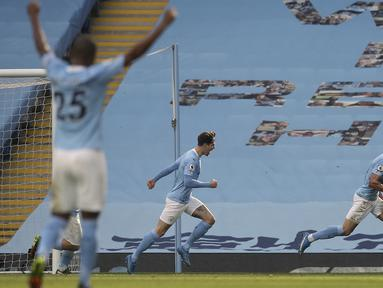 Anak asuh Pep Guardiola tersebut berhasil menyapu bersih kemenangan dalam 20 pertandingan terakhir di seluruh ajang. (Foto: AP/Pool/Martin Rickett)