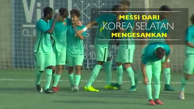 Berita video aksi hebat Messi dari Korea Selatan di tim muda Barcelona, Seung-Woo Lee. Pemain 19 tahun ini beberapa kali tampil mengesankan.