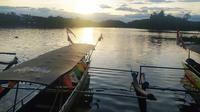 Dengan pemandangan alam yang ciamik, kawasan wisata alam Situ Gede, Kota Tasikmalaya, memberkan sejumlah keindahan saat menikati liburan di sana. (Liputan6.com/Jayadi Supriadin)