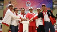 Menpora Zainuddin Amali didampingi Deputi Bidang Pembudayaan Olahraga Raden Isnanta membuka Pekan Paralympic Pelajar Nasional (Peparpenas) IX Tahun 2019 di GOR Pulogadung, Rawamangun, Jakarta Timur, Sabtu (8/11) sore.