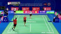 Berita video highlights partai ganda campuran Indonesia, Praveen Jordan / Melati Daeva Oktavianti saat menghadapi pasangan Inggris, Chris Adcock / Gabrielle Adcock, di Piala Sudirman 2019.