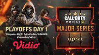 Bababk playoff Garena Call of Duty Mobile Major Series Season 3. (Sumber: Vidio)