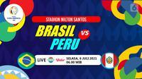 BRASIL VS PERU (Liputan6.com/Abdillah)