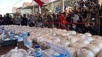 Polisi ungkap peredaran sabu senilai Rp 485 miliar. (Yopi Makdori/Liputan6.com)
