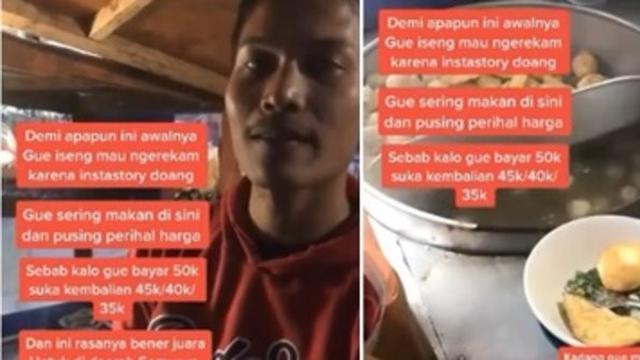 Viral Penjual Bakso Tak Patok Harga, Bayarnya Terserah Pembeli - Hot  Liputan6.com