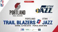 Portland Trail Blazers Vs Utah Jazz_2 (Bola.com/Adreanus Titus)