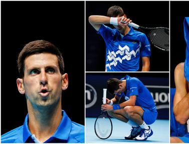 Ekspresi Kecewa Novak Djokovic Usai Disingkirkan Daniil Medvedev dari ATP Finals 2020