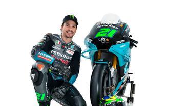 Pembalap Petronas Yamaha SRT di MotoGP 2021, Franco Morbidelli. (Twitter/Petronas Yamaha SRT)